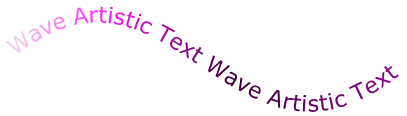 Wave Artistic Text Wave Artistic Text